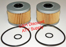 TWO 1985-1987 Honda 250SX Oil Filters with O-Rings *FREE U.S. SHIPPING*