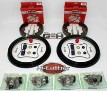 COMPLETE FRONT BRAKE REBUILD KIT (Shoes, Wheel Cylinders, Hardware) for 2000-2003 Honda TRX 350 Rancher