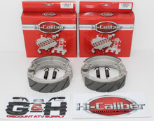 2 Sets WATER GROOVED FRONT BRAKE SHOES & SPRINGS for the 1992-2013 Yamaha YFM 125 Grizzly ATVs
