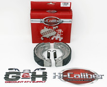 Quality WATER GROOVED Rear Brake Shoes & Springs for 1986 Yamaha YF 60S 4-Zinger Moto-4 ATVs