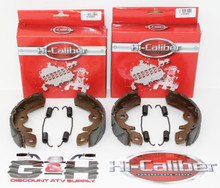 2 SETS WATER GROOVED Front Brake Shoes & Springs for 1985-1986 Suzuki LT 250 Quadrunner ATVs
