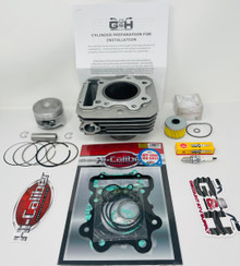 NEW QUALITY Cylinder Top End Rebuild Kit for the 1985-1987 Honda ATC 250SX 250ES Big Red three-wheelers