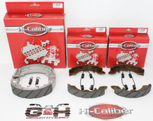 QUALITY WATER GROOVED Front & Rear Brake Shoes & Springs for 1985-1987 Suzuki LT LTF 230 QuadRunner ATVs