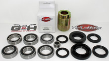 REAR Differential & Axle Bearing & Seal Kit AND Pinion Tool for 2005-2014 Honda TRX 500 Foreman RUBICON ATVs