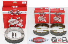 QUALITY WATER GROOVED Front & Rear Brake Shoes & Springs Set for 1996-1998 Yamaha YFM 350 Big Bear ATVs