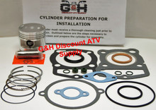 Honda TRX 125 Fourtrax Engine Motor Top Rebuild Kit and Cylinder Machining Service