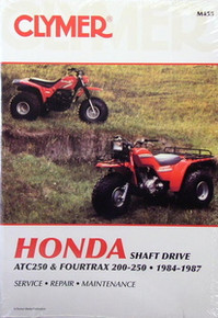 Honda Atv TRX 200 TRX250 Fourtrax CLYMER Repair Manual