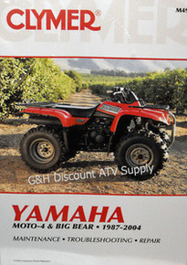 Yamaha YFM 350ER Moto-4 YFM 350 Big Bear CLYMER Repair Manual