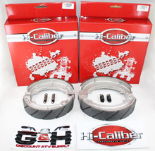 WATER GROOVED FRONT & REAR BRAKE SHOES & SPRINGS SET for the Honda ATC 250 ES SX Big Red