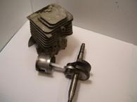Homelite  Chainsaw Piston Cylinder Crankshaft  Super 2 XL-2 XL 180 192 USED