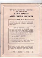 David Bradley Multi Purpose Elevator Model 352.15 Set up & Operation Manual original