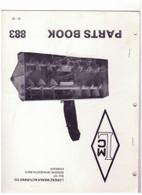Lorenz LMC Snow Thrower Model 883 Parts Book Benton Minnesota USED
