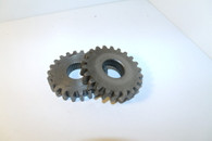 PEERLESS 2300 2333 TRANSAXLE GEAR AXLE pair  Gear 22 tooth Splined USED John deere 210 212