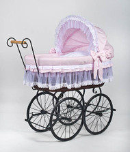 MJ Mark Belinda Tre Pink - Wicker Crib