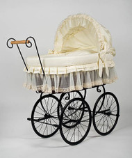MJ Mark Belinda Tre - Antique Cream - Wicker Crib