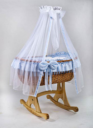 MJ Mark Ophelia Uno - Blue - Rocker - Wicker Crib