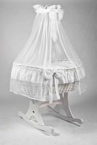 MJ Mark Ophelia Due - Antique White - Rocker - Wicker Crib