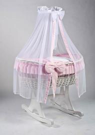 MJ Mark Ophelia Due - Pink - Rocker - Wicker Crib