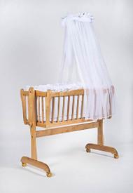 MJ Mark Juliet Uno - Antique White - Wicker Crib