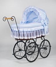 MJ Mark Belinda Tre Blue - Wicker Crib