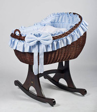 MJ Mark Bianca Tre - Blue - Rocker - Wicker Crib