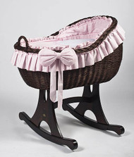 MJ Mark Bianca Tre - Pink - Rocker - Wicker Crib