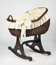 MJ Mark Bianca Tre - Ivory - Rocker - Wicker Crib