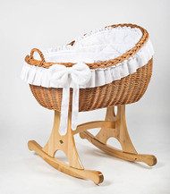 MJ Mark Bianca Uno - White - Rocker - Wicker Crib