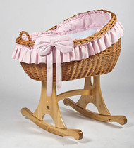 MJ Mark Bianca Uno - Pink - Rocker - Wicker Crib
