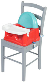 Safety 1st Easy Care Swing Tray Booster Seat - Red Lines