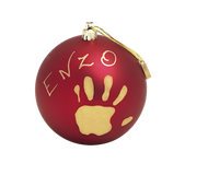 Baby Art Christmas Ball - Matt Finish - Red