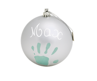Baby Art Christmas Ball - Matt Finish - Silver