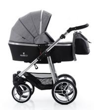 Venicci Special Edition 2 in 1- Denim Grey + Cabriofix car seat + 2wayfix base + 2way Pearl + Maxi cosi adaptors