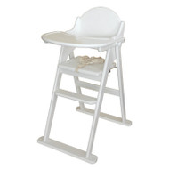 East Coast Folding Highchair - White/grey
