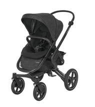Maxi-Cosi Nova Pushchair + Maxi-Cosi Oria Carrycot + Maxi-cosi Pebble Plus Car Seat - Nomad Black 4 wheel