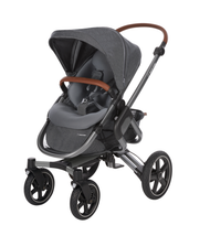 Maxi-Cosi Nova Pushchair + Maxi-Cosi Oria Carrycot + Maxi-Cosi Pebble Plus Car Seat - Sparkling Grey 4 Wheel