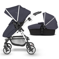 Silver Cross Wayfarer Pushchair (11 Piece Bundle) - Midnight Blue