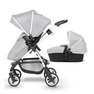Silver Cross Wayfarer Pushchair (11 Piece Bundle) - Platinum