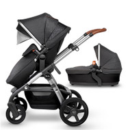 Silver Cross Wave Pushchair With Free Matching Car Seat And Isofix Base  - Granite