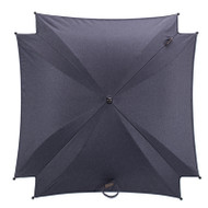 Silver Cross Wave Parasol - Midnight Blue