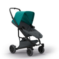Quinny Zapp Flex Plus + Lux Carrycot + Pebble Plus + Changing Bag - Green on Graphite