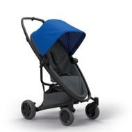 Quinny Zapp Flex Plus + Lux Carrycot + Pebble Plus + Changing Bag - Blue on Graphite