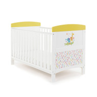 Obaby Grace Inspire Cot Bed B is for Bear - Happy Safari