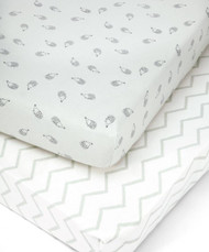 Mamas & Papas 2 Cot/Bed Fitted Sheets - Aqua