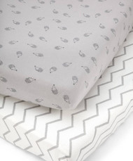 Mamas & Papas 2 Cot/Bed Fitted Sheets - Grey