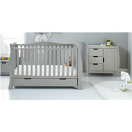 Obaby Stamford Luxe 2 Piece Room Set - Warm Grey
