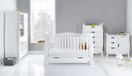 Obaby Stamford Luxe 4 Piece Room Set - White