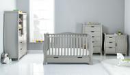 Obaby Stamford Luxe 4 Piece Room Set - Warm Grey
