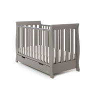 Obaby Stamford Mini Cot Bed  - Taupe Grey