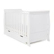 Obaby Stamford Classic Cot Bed + Free Pocket Sprung Mattress - White